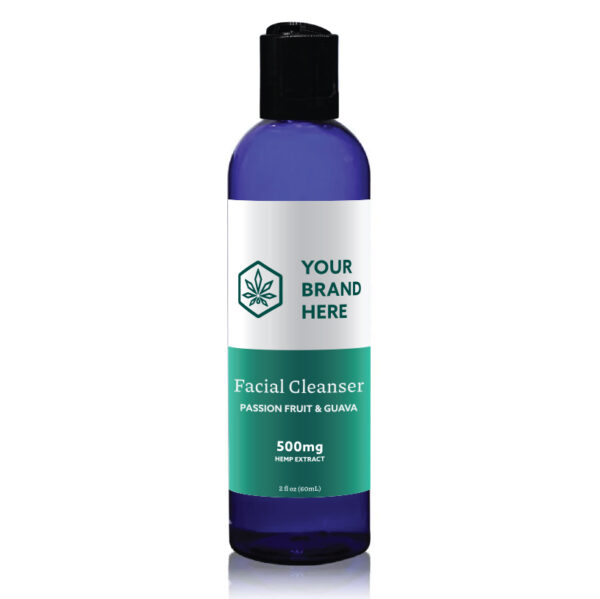 CBD facial cleanser private label example